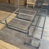 iron works yamachikaさんでベンチとローテーブル用のアイアン脚をオリジナルで作ってもらいました♬