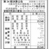ディーゼルジャパン株式会社 第34期決算公告