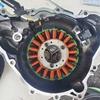 デイトナ675のクランク角センサーが壊れたので、ステーターコイル/クランク角センサーを交換した