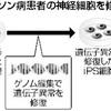 パーキンソン病患者iPS、ゲノム編集で修復