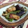 【インド料理レシピ】ナスとピーマンのサンバル炒め