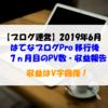 【ブログ運営】2019年6月のPV数・収益報告