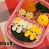 【キャラ弁】今月のお弁当  100均アイテムを使った猫です