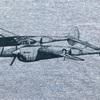 680 珍品 P-38 ライトニング リンガーTシャツ US.AIR FORCE  Anvil 70's