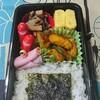 【夫弁当】1月第3週は、舞茸とほうれん草の炒め物から、チキンナゲットのコンソメカレー炒め。