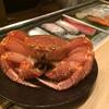 食歩記 六本木 atelier 森本 XEX 獺祭付カニ鮨コース。デザートは別室ラウンジで