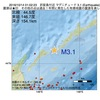 2016年10月14日 01時02分 択捉島付近でM3.1の地震