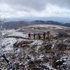 新雪の霊仙山で今年は登り納め