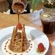浅草カフェ「くくりひめ珈琲」でモンブランとハニージンジャーアメリカーノのドリンクセット(秋限定栗スイーツ)
