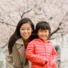 桜の季節に家族写真🌸