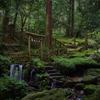 「瓜割の滝」 名水百選No.36 (福井県旧上中町)