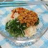 納豆混ぜ混ぜダブル乳酸菌の薬味素麺