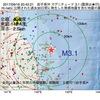 2017年09月16日 20時42分 岩手県沖でM3.1の地震