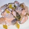 長ネギと銀鮭のポン酢炒め ヘルシオホットクックで自炊(89)