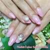 薄ピンクでふんわりやさしい印象に♡美爪さんのグラデーションネイル☆ジェル