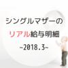 【シングルマザー】今月の家計費公開~2018.3~