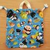 【簡単手作り】幼稚園児が使いやすい体操着袋│裏地なしマチ付き