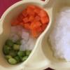 レシピ050 三色野菜のツナ和え(モグモグ期後期~)