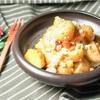 新じゃがの美味しいレンジでおかずレシピ!「マヨネーズ焼肉のタレ味のゴロゴロポテトサラダ」