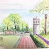 水彩画 百合が原公園 8月2日(日)2020