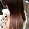 新潟 美容師 ブリーチ グラデーション ピンク サーモンピンク