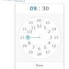 時計のUIによるTime picker
