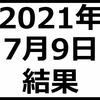 2021年7月9日結果 含み損120万円に達する