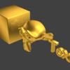 金・銀・銅のようなマテリアルを設定(Blenderレンダー):Blender