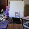 おつゆ描きで下書きです。(油絵描きますその1)