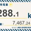 8/18〜8/24の総発電量は713.5kWh(目標比96.9%)でした