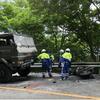 影像!大分県九重町で自衛隊車両とバイクが正面衝突炎上事故!男性搬送先で死亡
