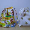 折りマチの巾着袋、2種類を紹介します。