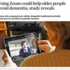 「高齢者のズーム通じた会話、認知症を食い止める可能性 英研究」について