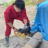 雑過ぎるDIY!! 『薪割台』 キャンプに意外と必須。
