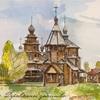 ロシアの田舎にある教会でしょうか