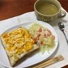 ホワイトソース卵トーストと人参ポテサラ