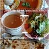 野菜スティックの天ぷらをカレーにディップ!@サムラート(新宿)