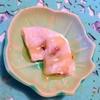 爽やかレモンのぷたぷた羽二重風ピスタチオ餅