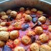 ミートボールとなす トマト煮込み