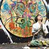 世界が熱狂する現代アーティスト小松美羽 身延山久遠寺でライブペイントに挑む