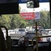 ヤンゴン国際空港から市内へ 路線バス移動
