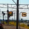 上市駅のシンクロポイント^^…2015年富山地方鉄道(地鉄)本線