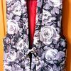 お洒落で大胆な薔薇柄ちゃんちゃんこを冬場の電気代節約に購入★他、はんてん (袢纏 /半纏 ) ・どんぶく ・どてら(褞袍)・ たんぜん(丹前) の違い