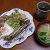 幸運な病のレシピ( 1015 )朝:キャベツ炒め、ししゃも、味噌汁