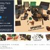 【無料化アセット】ダンボール、ゴミ箱、ボトル、ビール樽、標識、交通障壁 など34種類の街の環境小道具。LOD付きローポリ3Dモデル「Street Alley Pack- 34 models」