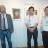 本日、マンガ評論家の荒岡保志さんが「畑中純の世界」展示会場を訪れた