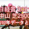 【日経賞 2021】過去10年データと予想
