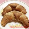 クレッセント・パスタ粉入りの生地で焼いたパン