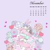 イラスト・カレンダー【11月】