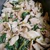 空心菜と豚のオイスター炒め